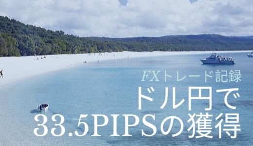 2020年初トレード!ドル円で33.5pipsの獲得に。(1月6日)